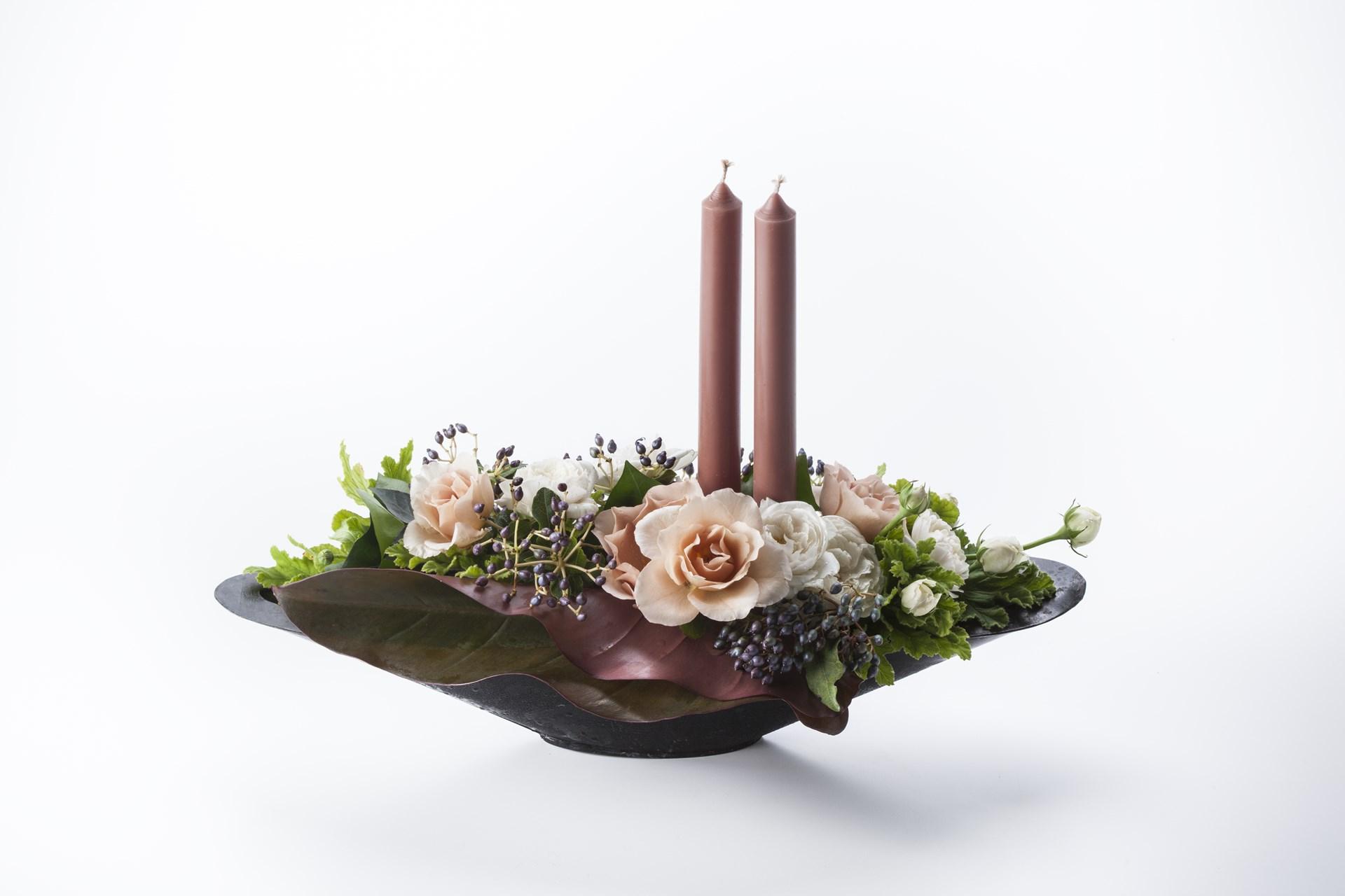 センターピースⅡ キャンドルと花